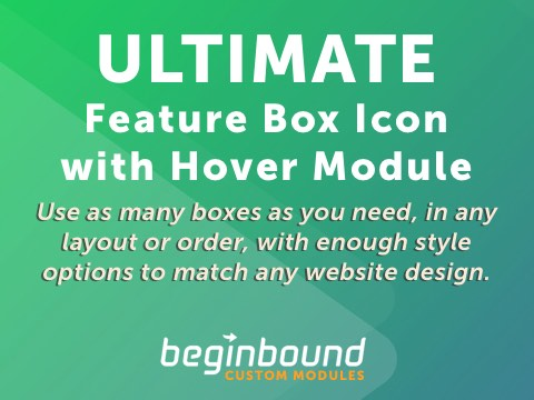 ULTIMATE Feature Box Icon with Hover - $5