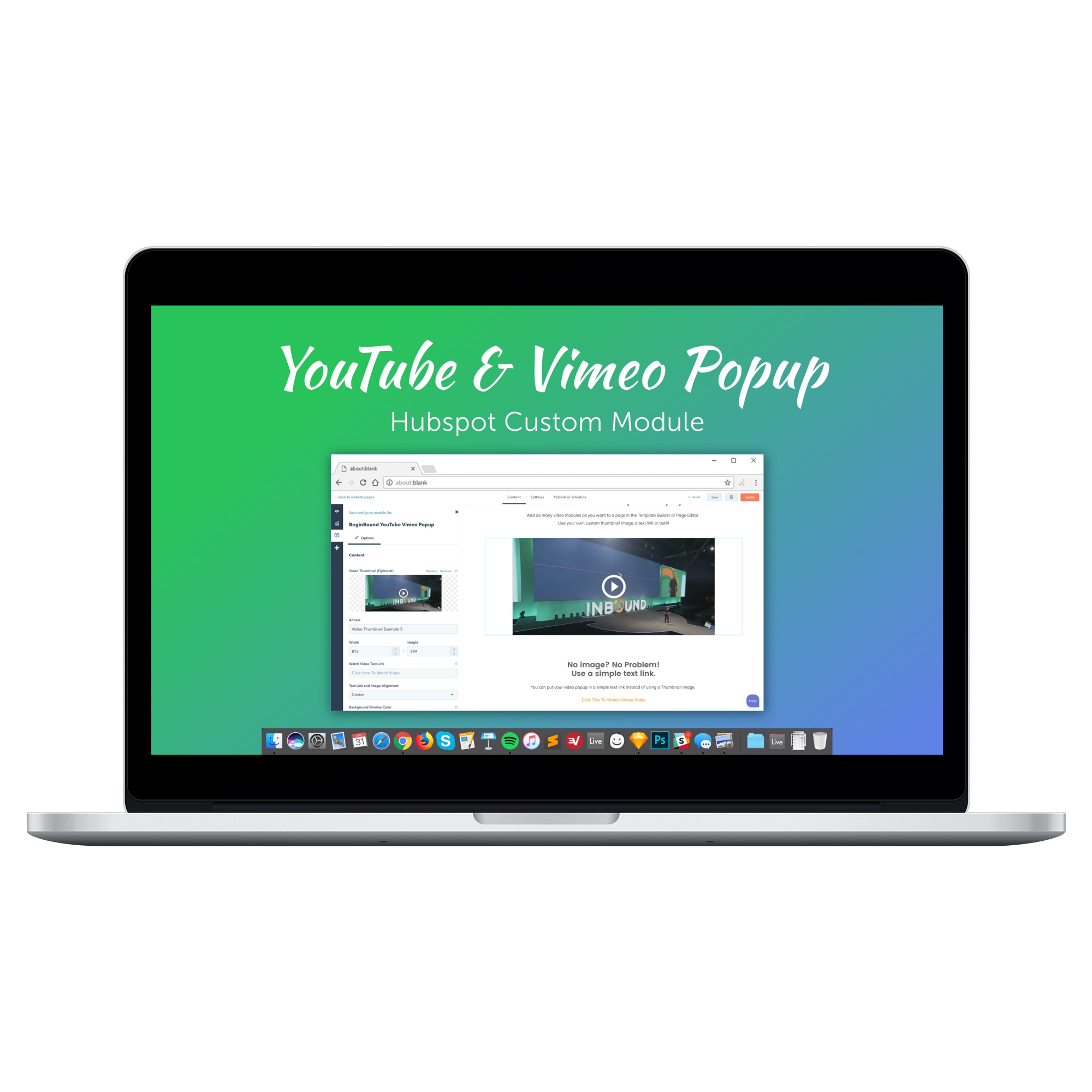 YOUTUBE VIMEO POPUP MODULE